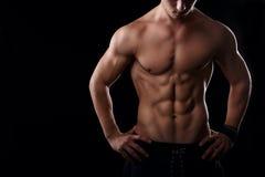 Muskulös manlig mage Fotografering för Bildbyråer