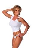 muskulös posera kvinna Royaltyfri Foto