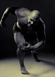 muskulös running för man Royaltyfri Fotografi