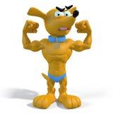 Muskulös valp Vektor Illustrationer