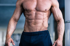 Muskulösa mans torso royaltyfria foton