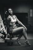 Muskulöse Frau Lizenzfreies Stockfoto