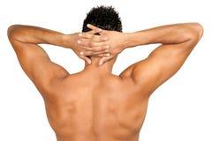 Muskulöse Mannesrückseite Lizenzfreie Stockfotos