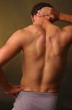 Muskulöse Mannesrückseite Lizenzfreies Stockbild