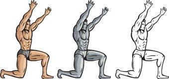 Muskulöse Mannholding etwas oben Lizenzfreie Stockfotografie