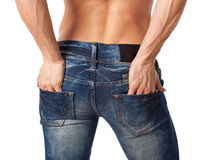 Muskulöse weibliche Karosserie Stockfotos