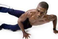 Muskulöser Athlet Stockbild