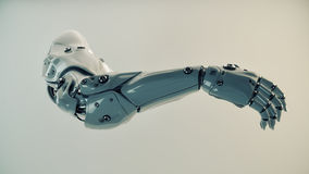 Muskulöser Cyberplastikarm Stockfoto