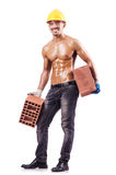 Muskulöser Erbauer Stockbild