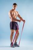 Muskulöser gutaussehender Mann Stockfotos