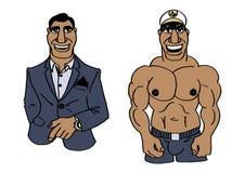Muskulöser gutaussehender Mann Lizenzfreie Stockbilder