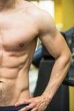 Muskulöser halber oberer Körper Stockfotografie