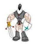 Muskulöser Kreuzfahrer Stockbild