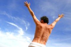 Muskulöser männlicher Torso Stockfotos