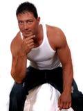 Muskulöser Mann stockbild