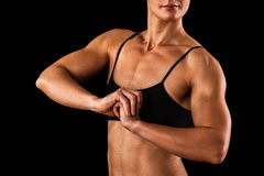 Muskulöser weiblicher Körper Lizenzfreies Stockfoto