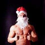 Muskulöser Weihnachtsmann Lizenzfreie Stockfotografie