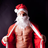 Muskulöser Weihnachtsmann Lizenzfreies Stockfoto