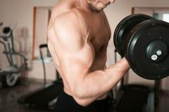 Muskulöser zerrissener Bodybuilder Lizenzfreies Stockbild