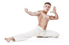 Muskulöses Kämpferportrait Stockfotos