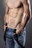 Muskulöses Kastendetail Stockfoto