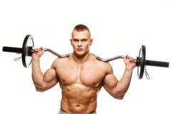 Muskulöses Manntrainieren Stockfoto