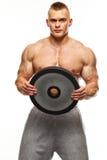 Muskulöses Manntrainieren Stockbild