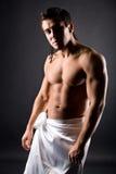 muskulöst naket barn för man arkivfoto