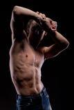 muskulöst naket för man royaltyfri bild