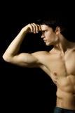 muskulöst sexigt för man Fotografering för Bildbyråer