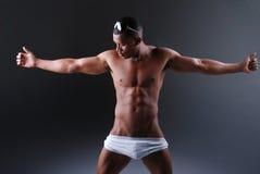 muskulöst sexigt för man Arkivfoto