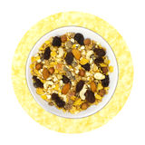 Musli. Natural breakfast: musli Royalty Free Stock Photo