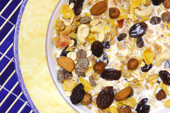 Musli. Natural breakfast: musli Royalty Free Stock Image