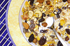 Musli. Natural breakfast: musli Royalty Free Stock Photos
