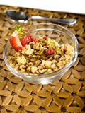 Musli with strawberry Royalty Free Stock Images