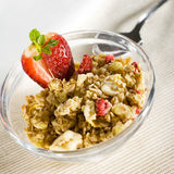 Musli with strawberry Royalty Free Stock Photos