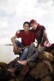 muslim пар напольные Стоковые Изображения