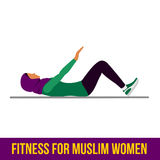 Muslim aerobic icons. Full color Stock Images