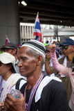 Muslim at the antigovernment demonstration Thailand Royalty Free Stock Photo