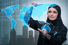The muslim arab businesswoman in business concept Stock Image
