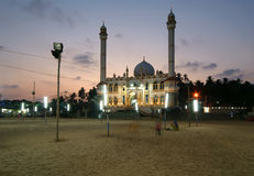 Muslim (Arab) Mosque, Kovalam, Kerala, India Royalty Free Stock Images