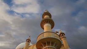 Muslim (Arab) Mosque, Kovalam, Kerala, South India stock footage