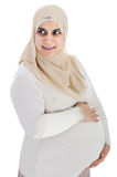 Muslim arabic pregnant woman Royalty Free Stock Photo