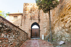 Muslim arch from Alcazaba of Malaga in Andalusia, Spain. Alcazaba is one of the most visited monuments in the south of spain Stock Photography
