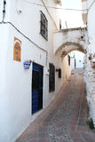 Muslim arches street, Comares. Stock Photography