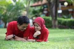 Muslim Asian Couple Stock Images