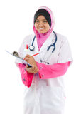 Muslim Asian medical student royalty free stock photo