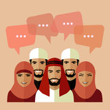 Muslim avatars Stock Photography