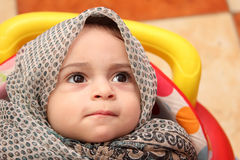 Muslim baby girl Royalty Free Stock Photo