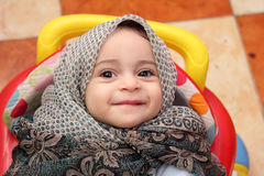 Muslim baby girl Royalty Free Stock Image